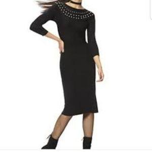 NWT New York & Company Black Sweater Dress S